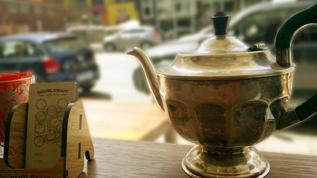 Teapot at Doubleshot Coffee and tea