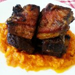 Slow braised short ribs with butternut mash
