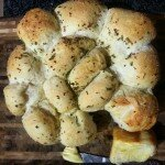 Quick garlic bread with rosemary and sea salt