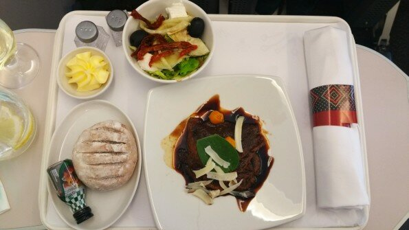 SAA in-flight meal Johannesburg to Nairobi