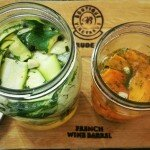 Quick pickled courgettes and pickled carrots
