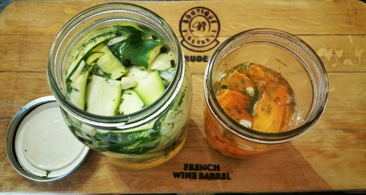 Quick Pickled Courgette and Carrot