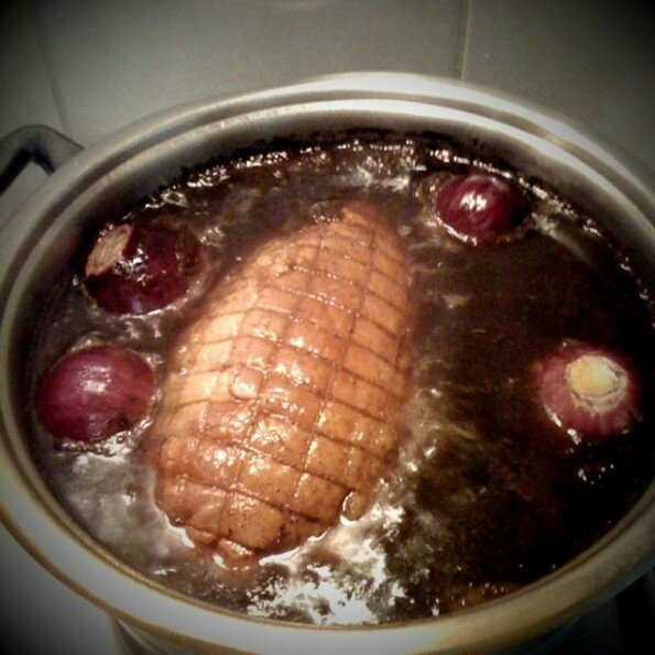 Christmas Gammon in Coke